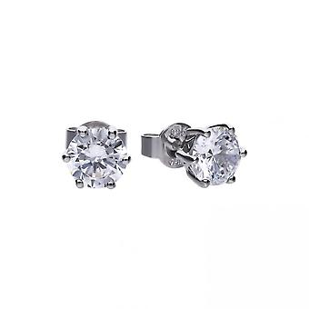 Diamonfire Silver White Zirconia Solitaire Earrings E5581