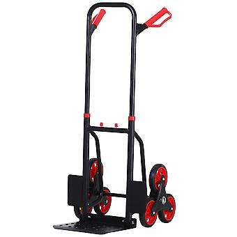 DURHAND Steel Climbing Stairs Trolley Hand Trucks 6-Wheels Foldable Load Cart 150kg