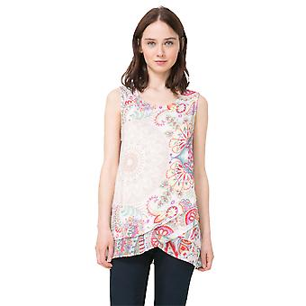 Desigual Women's Sleeveles Paisley Floral Top