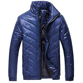 Allthemen Mens Solid Casual Stand Collar Coat Winter Warm Thick Outwear Zipper Overcoat Plus Size