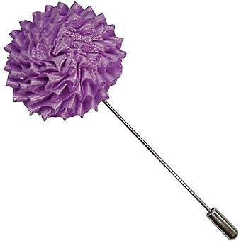 Bassin and Brown Chrysanthemum Flower Lapel Pin - Lilac