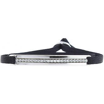 Bracelet Les Interchangeables A31540 - Bracelet Tissu Noir Cristaux Swarovski Femme