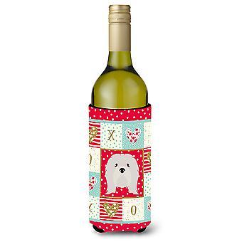 Lhasa Apso Wine Bottle Beverage Insulator Hugger
