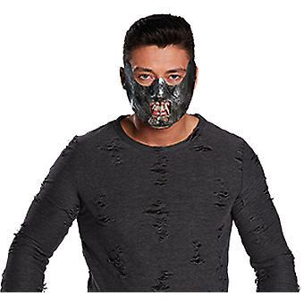 Half-masker Cannibal horror seriemoordenaar accessoire carnaval carnaval