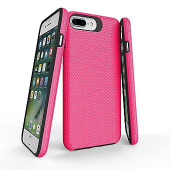 Para iPhone 8, 7, 6 e 6S Case, Pink Armor Slim ShockProof Protective Phone Cover