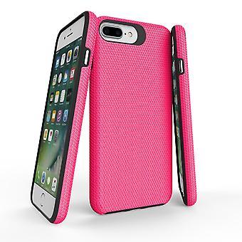 For iPhone 8, 7, 6 og 6S tilfelle, rosa rustning slank støtsikker beskyttende telefondeksel
