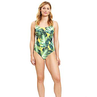 Féraud 3205021-16081 Women's Green Leaves Non-Padded Swimsuit