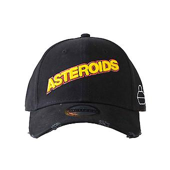 Atari Baseball Cap Asteroids 3D Logo vintage frayed new Official Black strapback