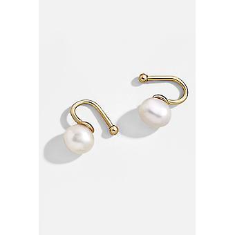 Pearl Bar Ear Cuff Set