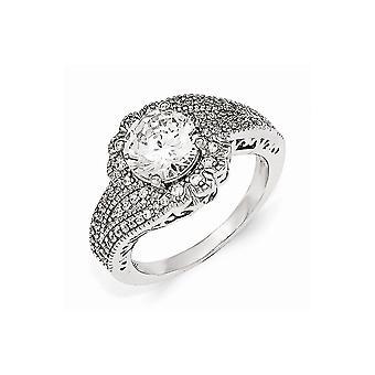 Cheryl M 925 plata de ley facetado 100 faceta CZ Zirconia cúbica zirconia simulado anillo de diamantes joyería regalos para las mujeres - Anillo S