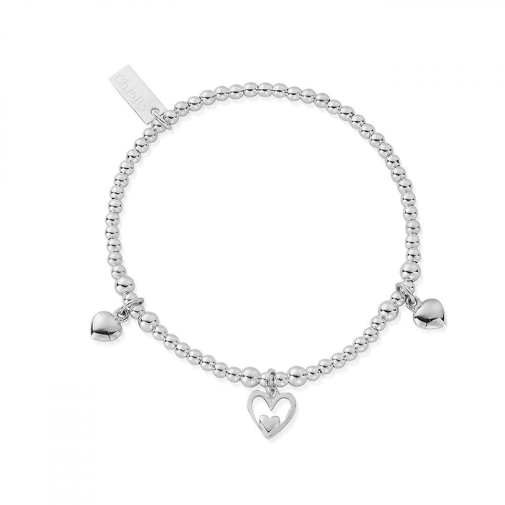 ChloBo Silver Triple Heart Bracelet