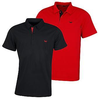 Wolsey Mens Pique Flat Knit Collar Cuff Golf Polo Shirt