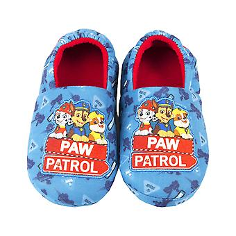 Paw Patrol Rescue Team Boy's Blue House Slippers