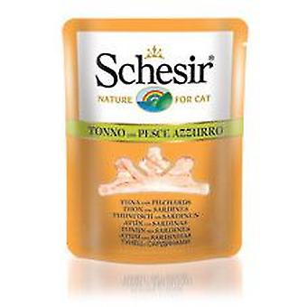 Schesir Tuna with Sardines in Broth (Cats , Cat Food , Wet Food)