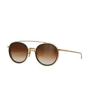 DITA System Two DTS115 02 Gold-Black Iron/Dark Brown Gradient Sunglasses