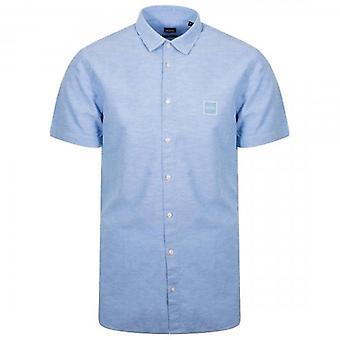 Boss Orange Hugo Boss Magneton_1 Short Sleeve Oxford Shirt Light Blue 460 50406334