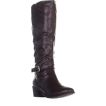 KS35 Fayth onder de knie Riding Boots, Dark Brown, 6,5 ons