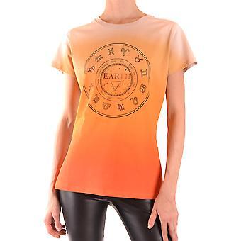 Pinko Ezbc056292 Kvinder's Beige Bomuld T-shirt