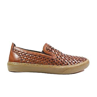 Anatomic Macau Tan Woven Leather Mens Slip On Casual Shoes