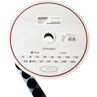 FASTECH® T01047999903C1 Krok-och-slinga stick-on dot stick-on (smältlim) Loop pad (Ø) 47 mm Svart 1 st