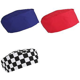 Dennys Unisex Elasticated Chef Skull Cap/Hat (Pack of 2)