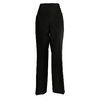 Isaac Mizrahi Live! Women's Pants 24/7 Stretch Slim Boot Cut Black A372674
