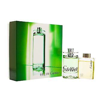 Eau de Cartier concentree by Cartier 2 delige set bevat: 3,3 oz Eau de Toilette Spray + 2,5 oz all over shampoo