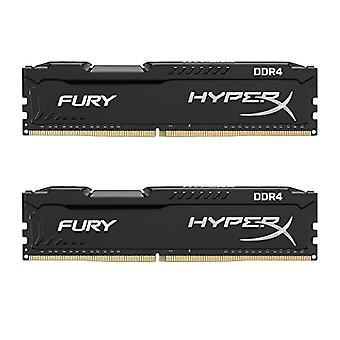HyperX FURY HX424C15FB2K2/16 DDR4 16 GB (Kit 2 x 8 GB), 2400 MHz CL15 DIMM XMP, Zwart