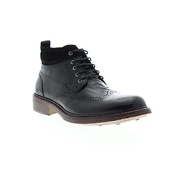 English Laundry Lucas  Mens Black Leather Casual Dress Boots Shoes
