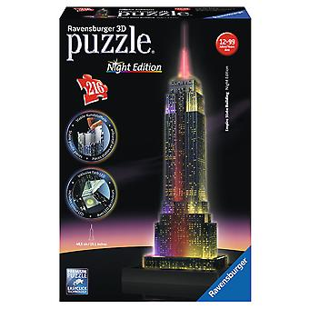 Ravensburger 3D pussel Empire State Building natt Edition