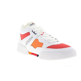 Ellesse Piazza Leather AM  Mens White Low Top Lifestyle Sneakers Shoes