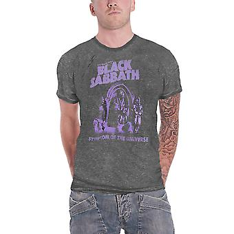 Black Sabbath T Shirt Symptom of the Universe Official Mens Charcoal Burn Out