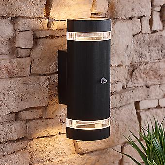 Architect Round Modern 35W Outdoor Wall Light with Built-In Photo Sensor