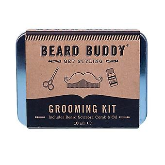 Kit de aseo Beard Buddy en lata de regalo