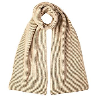 Johnstons of Elgin Cashmere Ribbed Scarf - Natural Beige