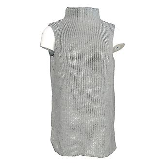 Martha Stewart Femmes-apos;s Sweater Merino Wool Blend Sleeveless Gray A342940