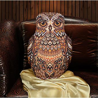 Panna Cross Stitch Cushion Front Kit : Owl