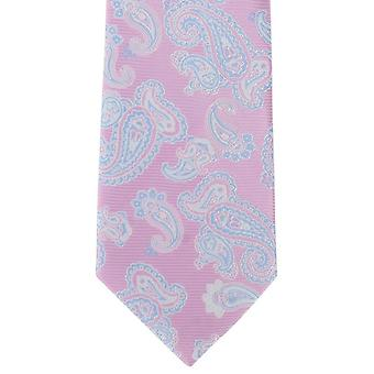 Michelsons of London Outline Paisley Polyester Tie - Pink