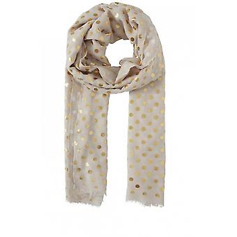 b.young Gold Spot Print Scarf