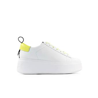ASH MOON WHITE YELLOW PLATFORM SNEAKER