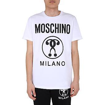 Moschino 070670401001 Herren's weiße Baumwolle T-shirt