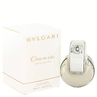 Omnia Crystalline Eau De Toilette Spray Par Bvlgari 1.35 oz Eau De Toilette Spray