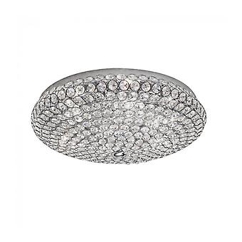 Marquesa Chrome Ceiling Light 6 Bulbs