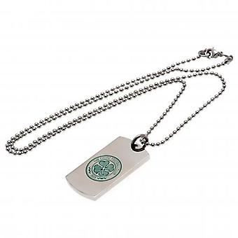 Celtic Couleur Crest Dog Tag & Chain