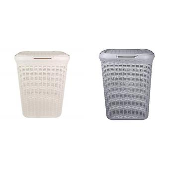 Anika Home Rattan Laundry Basket