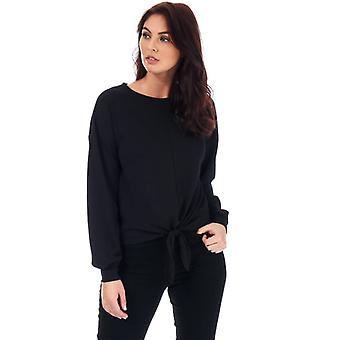 Women's Only Madeleine Knot Jersey Top in Black