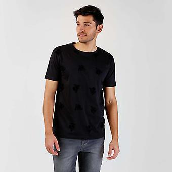 Zwart Flock T-shirt