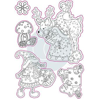 Craft Consortium Mr & Mrs Snome Clear Stamps