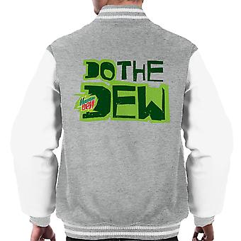 Mountain Dew Do The Dew trykt stil menn ' s Varsity Jacket