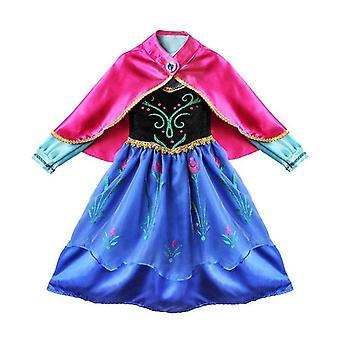 הילדים קפואים הנסיכה אנה המלכה Cosplay תחפושת המפלגה שמלה מפוארת 3-8 בענף